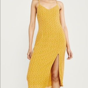 Women's polka dot yellow dress